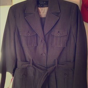 Grey brown skirt suit. Hardly worn.